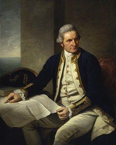 Målning av Captain James Cook.
