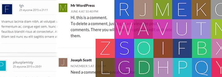 إضافة WP First Letter Avatar لتحويل اول حرف من اسم صاحب التعليق الى صوره شخصية فى ووردبريس