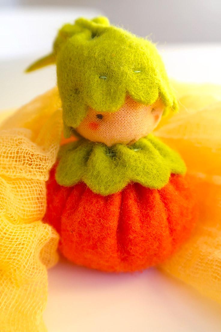 Pumpkin baby plush toy