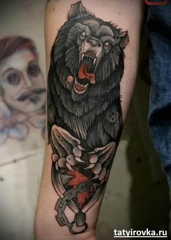 Тату-медведь-и-их-значение-9