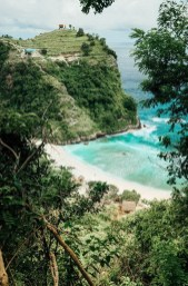 Atuh Beach, Nusa Penida Bali Indonesia - Body of water, Coast, Coastal and oceanic landforms, Natural environment, Natural landscape, Nature, Nature reserve, Outdoor structure, Shore, Turquoise, Vegetation
