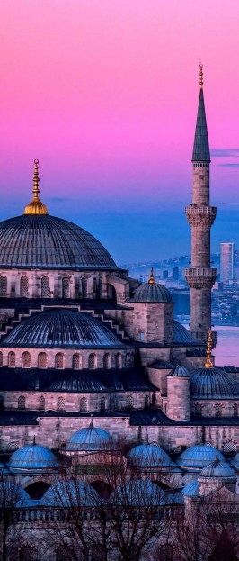 The Blue Mosque, Fatih Istanbul Turkey - Architecture, Dome, Holy places, Landmark, Mosque, Tower