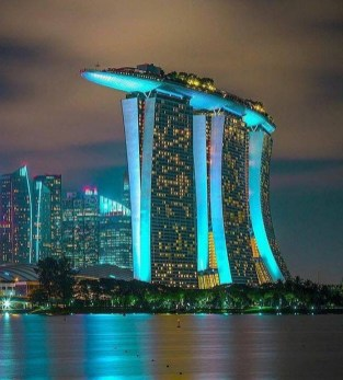 Gardens by the Bay, Singapore Central Singapore - Architecture, Building, Night, Tower