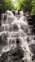 Waterfall Kanto Lampo, Gianyar Bali Indonesia - Body of water, Fluvial landforms of streams, Natural landscape, Nature, Nature reserve, Outdoor structure, River, Stream, Water resources, Watercourse, Waterfall