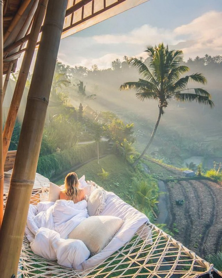 Ubud Gianyar Indonesia - Arecales, Art, Comfort, Linens, Outdoor structure, Painting, Palm tree, Plantation, Rural area, Tropics