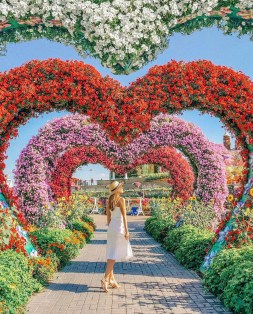 Miracle Garden , Dubai United Arab Emirates - Art, Biome, Botany, Flower, Gesture, Grass, Leaf, Nature, People in nature, Person, Petal, Photograph, Plant, Tree, Vegetation