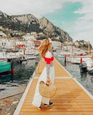Capri, Naples Italy - Art, Boats and boating--Equipment and supplies, Cloud, Dock, Dress, Happy, Lake, Leisure, Mountain, Person, Sky, Travel, Water, Watercraft, Wood