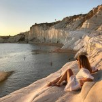 Agrigento, Realmonte Agrigento Italy - Beach, Coastal and oceanic landforms, Dress, Mountain, People in nature, Person, Sky, Sunlight, Terrain, Water, Wood