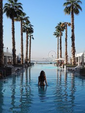 Five Palm Jumeirah, Dubai United Arab Emirates - Architecture, Arecales, Azure, Body of water, Building, Daytime, Leisure, Person, Plant, Sky, Swimming pool, Tree, Water
