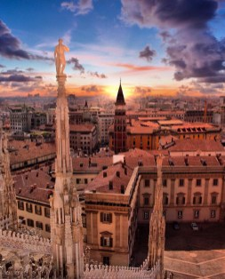 Duomo di Milano (Milan Cathedral, Milan Italy - Building, Cityscape, Cloud, Landscape, Sky, Tower, Window