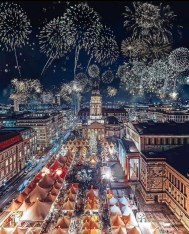 Berlin, Germany - Architecture, Atmosphere, Building, City, Cityscape, Fireworks, Light, Line, Nature, Sky, Skyscraper, Tower, World