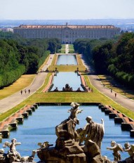 Caserta, Reggia di Caserta Italy - Architecture, Art, Bank, Body of water, Botany, Building, Daytime, Fountain, Leisure, Nature, Person, Plant, Sculpture, Sky, Statue, Tree, Water