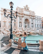 Trevi Fountain, Rome Rome Italy - Bag, Building, Font, Person, Sky, Street light, Water