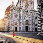 Florence, Florence Florence Italy - Building, Door, Facade, Morning, Public space, Sky, Wall