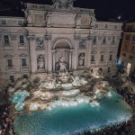 Trevi Fountain, Rome Rome Italy - Azure, Building, Font, Fountain, Light, Nature, Sculpture, Water, Water resources, Watercourse, Window, World