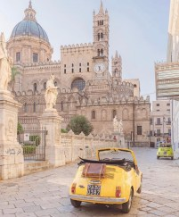 Cattedrale di Palermo, Palermo Palermo Italy - Automotive design, Building, Car, City, Land vehicle, Motor vehicle, Plant, Road surface, Sky, Tire, Travel, Vehicle, Vehicle registration plate, Wheel