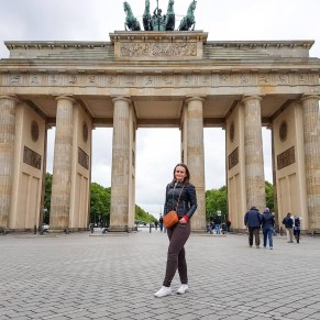 Mitte, Berlin Germany - Architecture, Leisure, Person, Public space, Sky, Smile, Standing, Temple, Travel