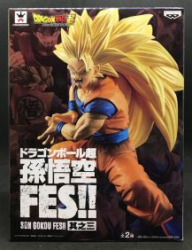 DRAGON BALL SUPER - SON GOKU FES SPECIAL - SUPER SAIYAN 3 SON GOKU - BANPRESTO FIGURE 14CM