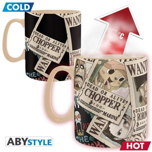 ONE PIECE - TAZZA HEAT CHANGE 460ML - CHANGE WANTED
