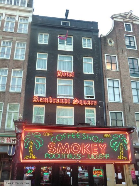 One of many coffeeshop on Rembrandtplein