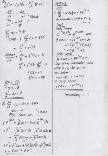 Fisika dasar gambar teknik kalkulus 1. Jawaban Quiz 1 Mk Matematika Teknik I Taufiqur Rokhman