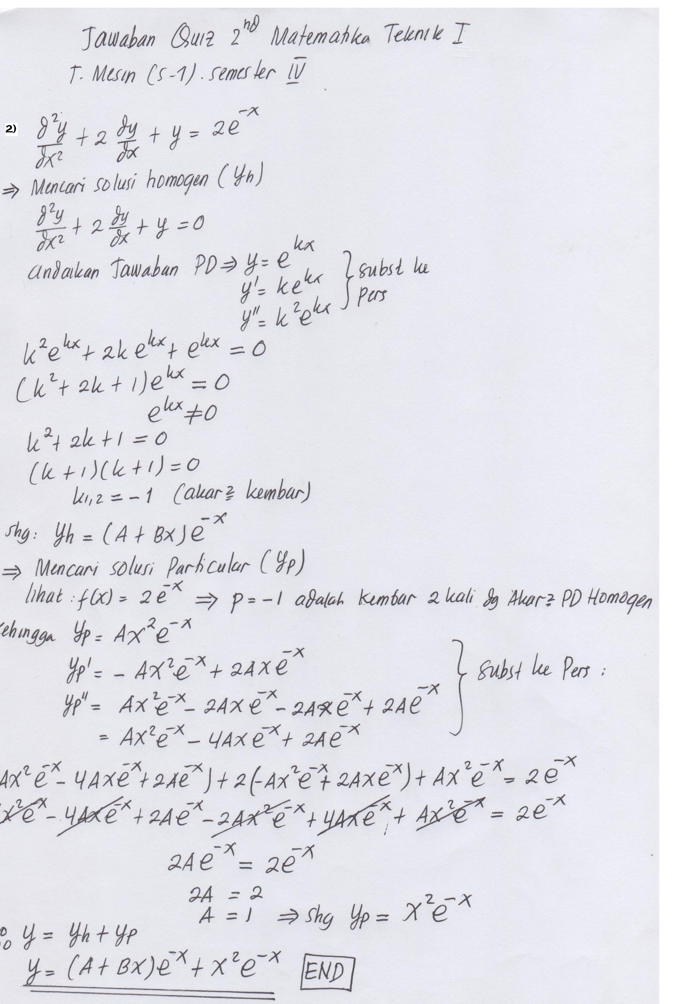 28/02/2021· 111+ contoh soal matematika kuliah semester 1 + penjelasan. Jawaban Quiz 2 Matematika Teknik I Kelas Malam Taufiqur Rokhman