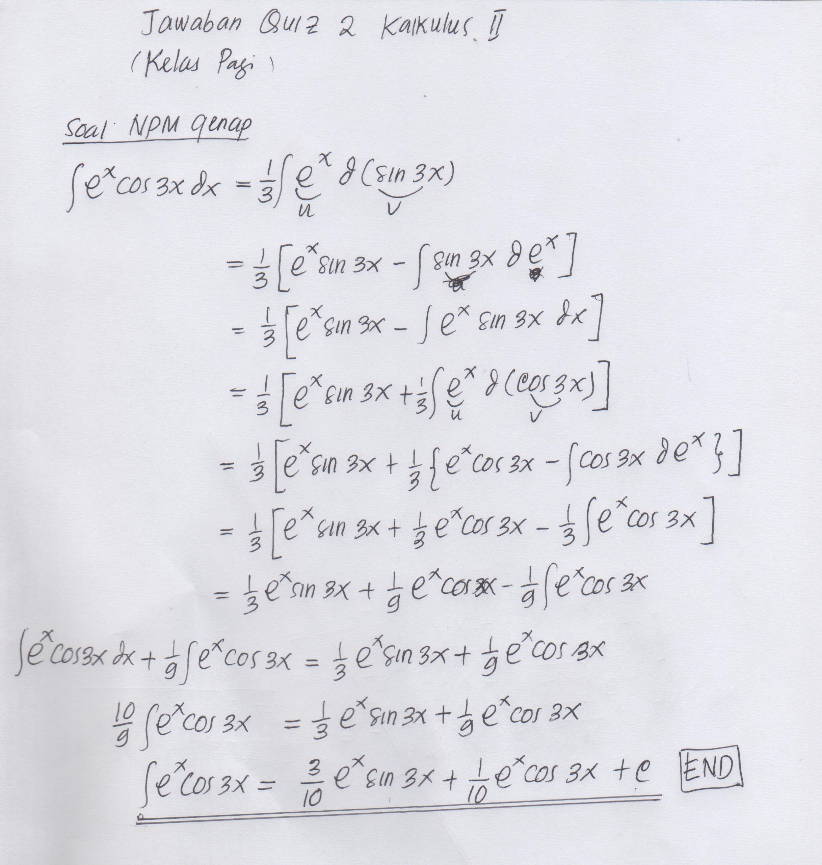 Topik utamanya dalam pembelajaran kalkulus diferensial adalah turunan. Kalkulus Contoh Soal Dan Jawaban Siswapelajar Com