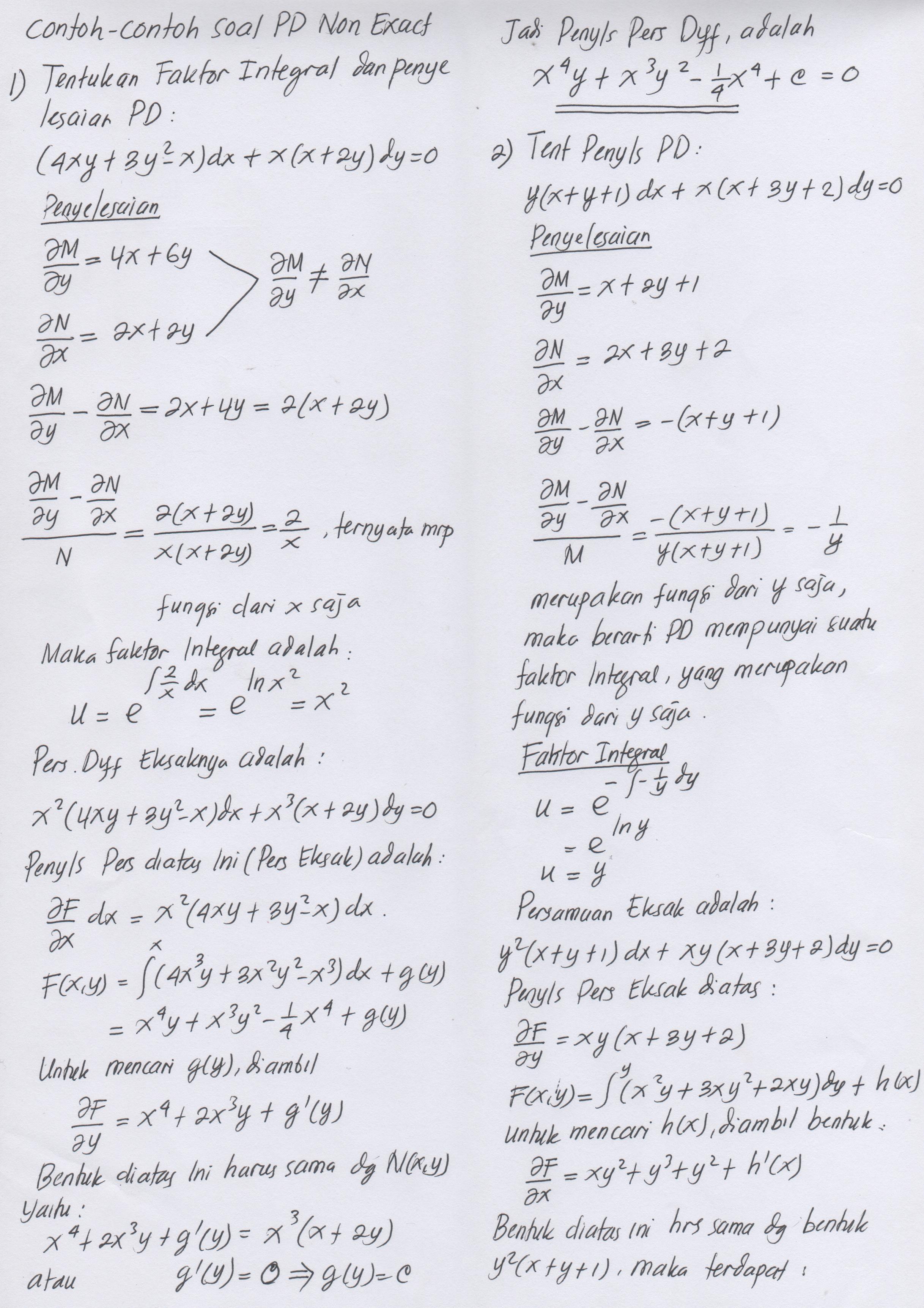 F'(x) = ∫ 4 dx = 4x + c 3. Kalkulus Contoh Soal Dan Jawaban Siswapelajar Com
