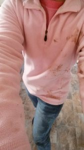 me, covered in mud