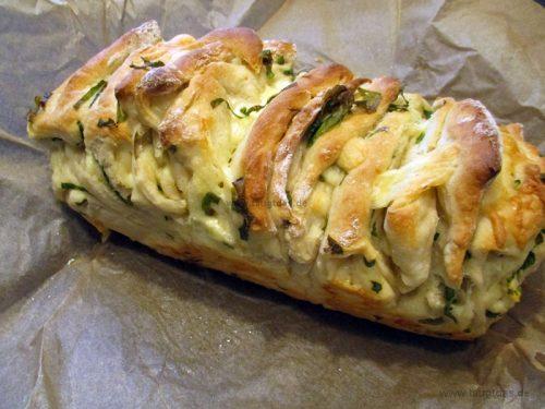 Zupfbrot Käse-Bärlauch
