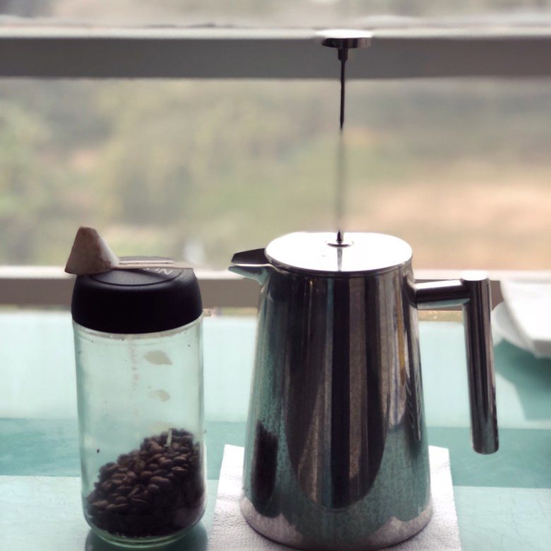 Coffee bean and French Press
