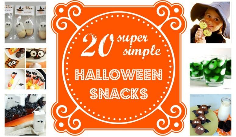 20 Easy Halloween Snacks