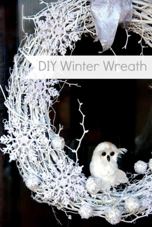 DIY White Winter Wreath via SNAP