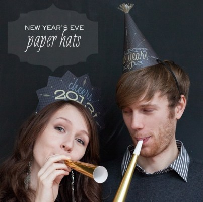 New Years Eve Paper Hats