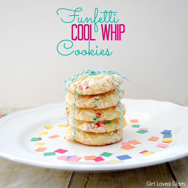 Funfetti Cool Whip Cookies via Girl Loves Glam