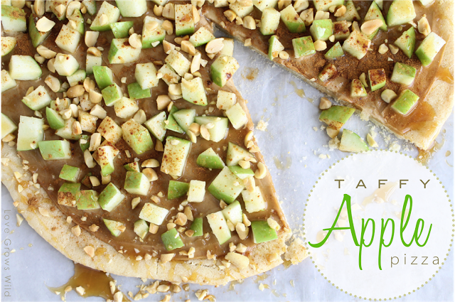 Taffy Apple Pizza by Love Grows Wild