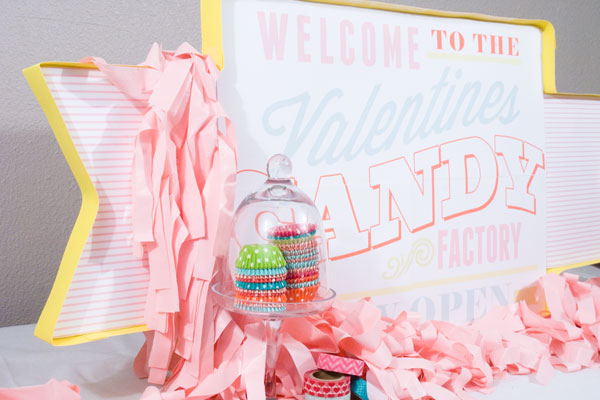 valentine-candy-factory-party-sign via Confetti Sunshine