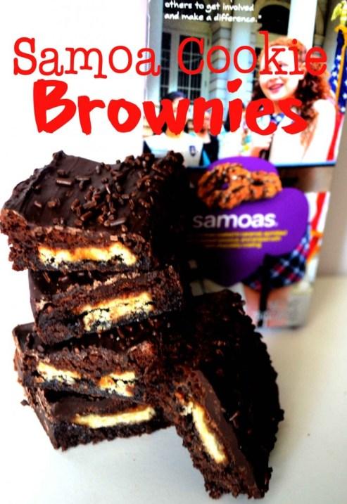 Samoa cookie brownies pink cake plate.com