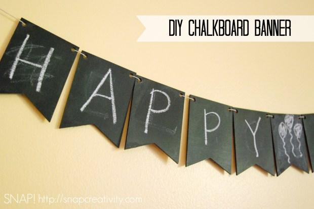 DIY Chalkboard Banner Inside