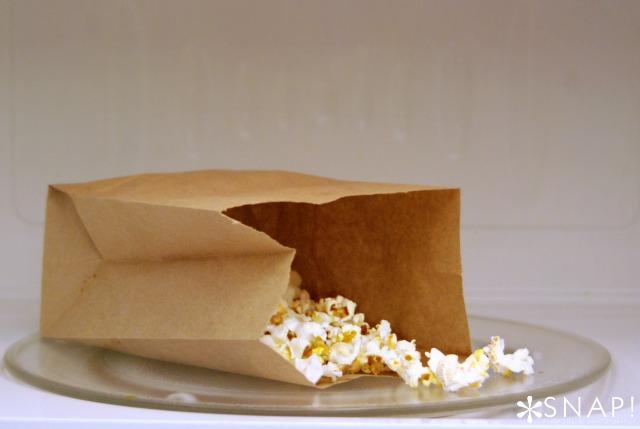 DIY Microwave Popcorn via SNAP!