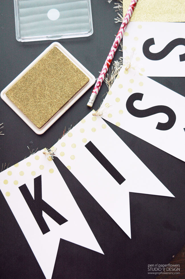 Kiss Me Banner crafting supplies