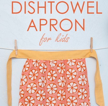 Upcycled Dishtowel Apron
