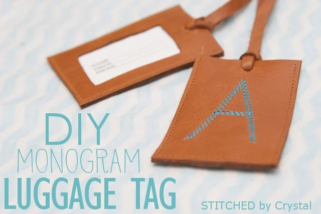 Leather Monogram Luggage Tag