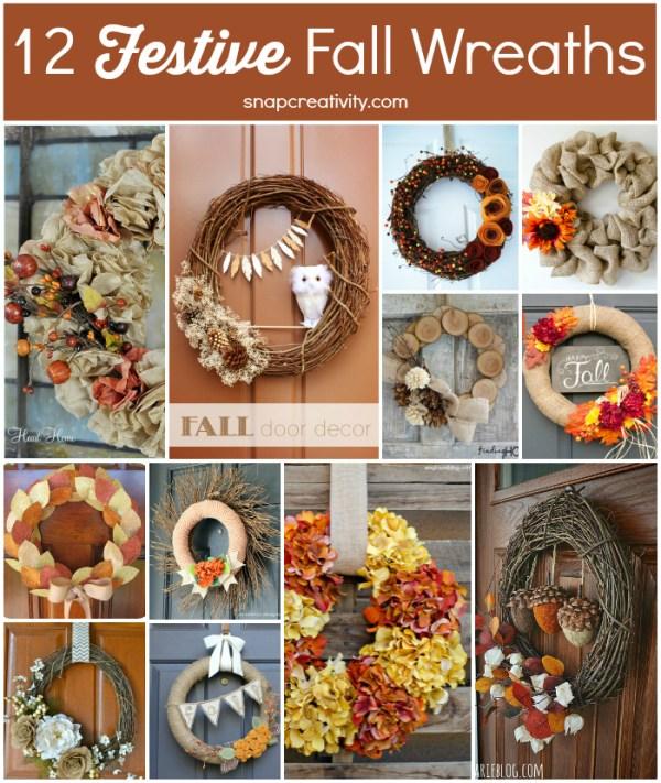 12 Festive Fall Wreaths