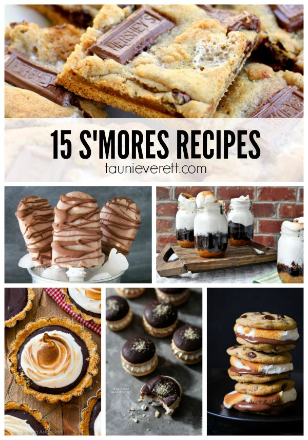 15 recipes that feature a new take on the traditional S'mores recipe.