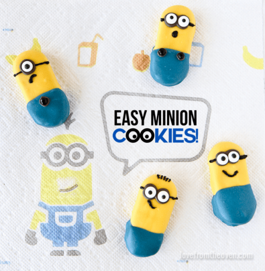 Easy Minion cookie tutorial