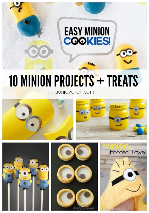 10 of the best Minion craft projects and treats. Great for entertaining the kids this summer or for a birthday party.