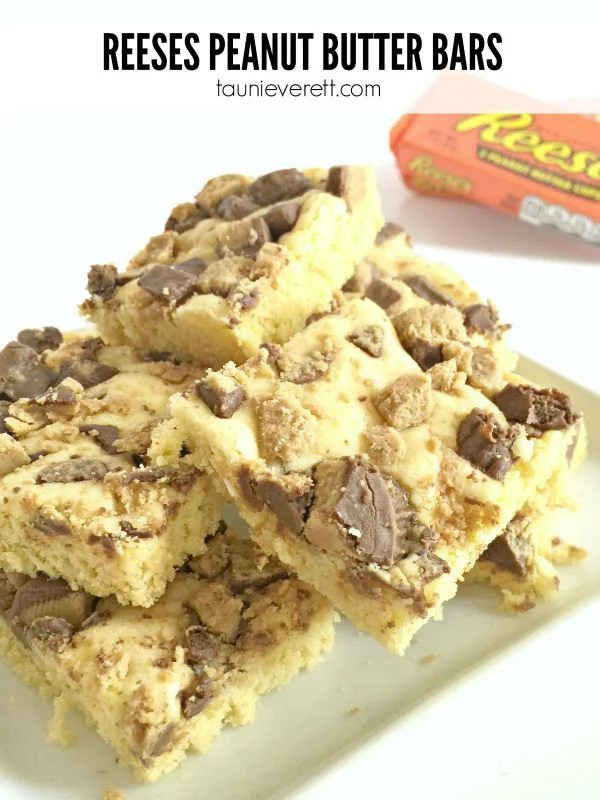 Reeses Peanut Butter Bar Recipe. This is a great dessert that can be made in a rush.