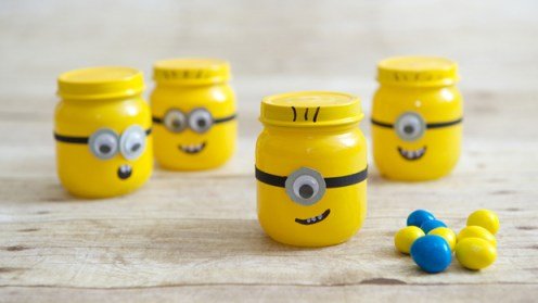 Minion baby food jar tutorial