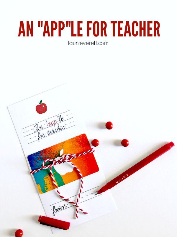 An apple for teacher title